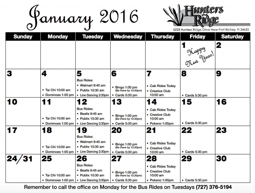 Jan 2016 newsletter