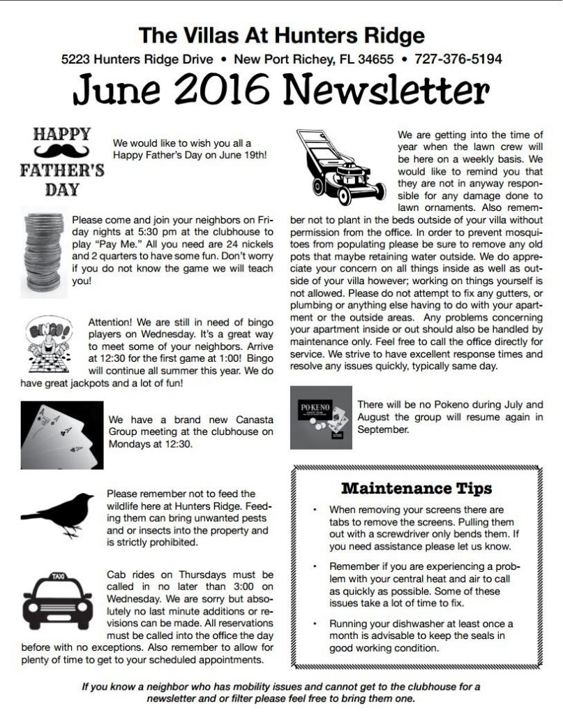June 2016 Newsletter1