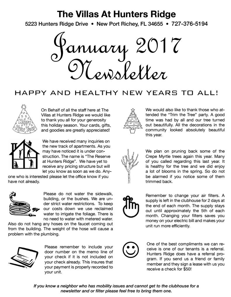 Newsletter January 2017 main
